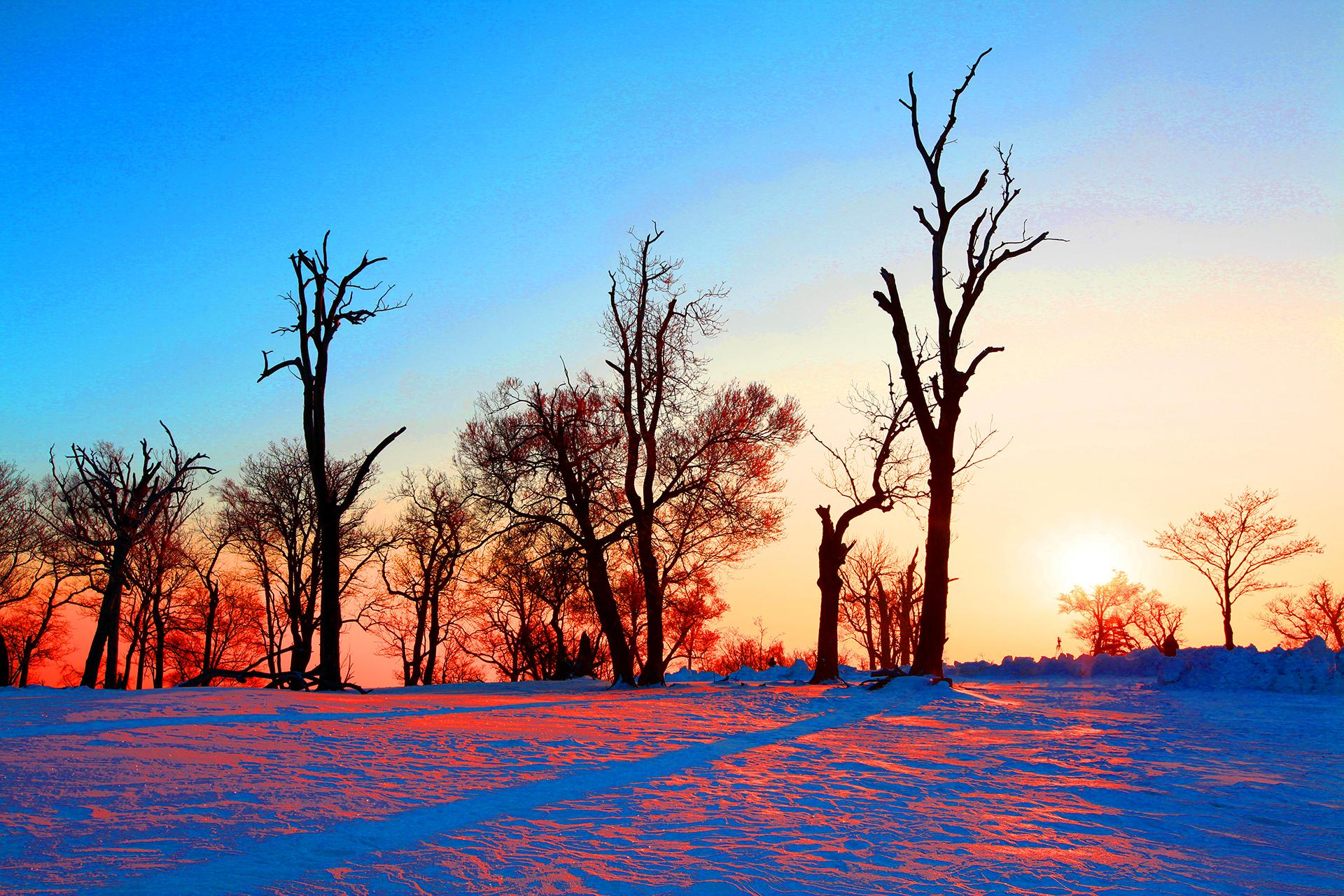 吉林四方頂子初冬換裝:玉樹瓊枝枯木天堂美不勝收