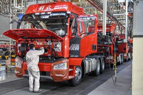 中國一汽2020年營收6950億元 同比增長12.5%